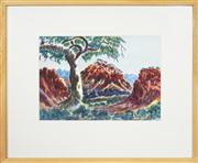 Sale 8741A - Lot 63 - Otto Pareroultja (1914 - 1973) - MacDonnell Ranges, 1973 28 x 38cm