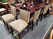Sale 8889 - Lot 1333 - Timber Seven Piece Dining Setting incl. Table & Six Chairs