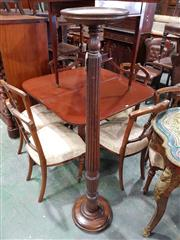 Sale 8993 - Lot 1081 - Turned Mahogany Torchere or Pedestal, with circular top & reeded shaft