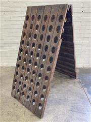 Sale 9085 - Lot 1053A - French Oak Champagne Riddling Rack to Hold 120 Bottles (H:150cm)