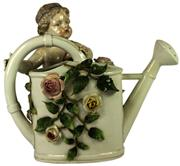 Sale 8057 - Lot 96 - Sitzendorf 19th Century Cherub Watering Can