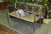 Sale 8227 - Lot 1043 - Garden Bench with Iron Ends