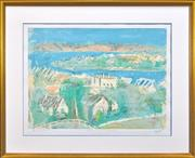 Sale 8309 - Lot 529 - Lloyd Rees (1895 - 1988) - From the Artists Veranda - Northwood, 1985 55 x 73.5cm