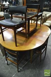 Sale 8364 - Lot 1037 - White and Newton Round Extending Table and Six Chairs