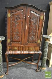 Sale 8386 - Lot 1010 - Two Door Cabinet on Ball and Claw Feet