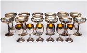 Sale 8590A - Lot 88 - A quantity of Italian silver plated goblets (6) and champagne bowls (14)
