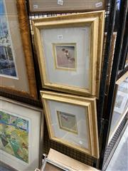 Sale 8888 - Lot 2036 - 2 Works: William Smith - Bondi Bathers, oil paintings, 36.5 x 34.5 cm each,
