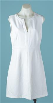 Sale 9027F - Lot 57 - A Diane Von Furstenberg ivory sleeveless dress. size 8