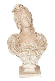 Sale 9087H - Lot 60 - A composition figure of Marie Antoinette. 65cm height