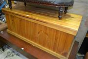 Sale 8093 - Lot 1034 - Pine Blanket Box