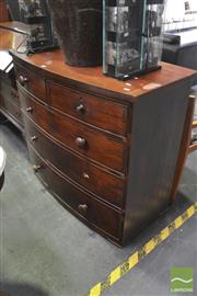 Sale 8326 - Lot 1340 - Bow Front Chest of Drawers