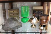 Sale 8379 - Lot 153 - Wardens Helmet with Other Decorative Wares incl. Copper Jardiniere