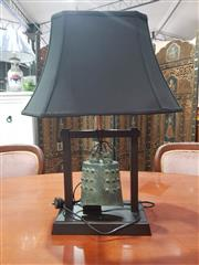 Sale 8676 - Lot 1059 - Bronze Archaic Style Table Lamp