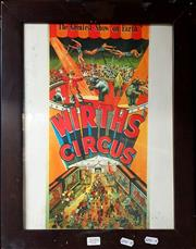 Sale 8678 - Lot 2059 - Wirths Circus Print