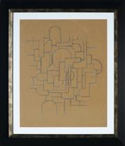 Sale 8908A - Lot 5014 - Desiderius Orban (1884 - 1986) - Untitled (Abstract) 42.5 x 33.5 cm