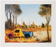 Sale 8945 - Lot 2011 - Kevin Charles (Pro) Hart (1928 - 2006) - The Ute Race 48 x 58 cm (sheet)