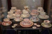 Sale 8022 - Lot 86 - Assorted Trios and Coffee Cup/ Saucers incl Ridgeway, Royal Doulton, Tuscan, etc