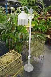 Sale 8046 - Lot 1060 - Glass Shade Standard Lamp