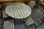 Sale 8066 - Lot 1041 - Timber Outdoor Table with 4 Chairs