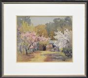 Sale 8257A - Lot 76 - Winifred Caddy (1884 - 1981) - Spring Blossoms 27.5 x 33.5cm