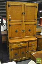 Sale 8287 - Lot 1033 - 1920s Hygena Hoosier Style Kitchen Cabinet (Liverpool, UK)