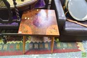 Sale 8326 - Lot 1311 - Australian Themed Side Table w Various Fauna