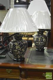 Sale 8341 - Lot 1003 - Pair of Chinese Museum Replica Table Lamps (4235)
