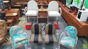 Sale 8383 - Lot 1086 - Set of Six Hoop Framed Perspex Chairs