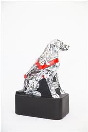 Sale 8479G - Lot 20 - Sally Robinson - Tattooed Dog. I usually paint portraits and abstract paintings, so helping to raise funds for Guide Dogs NSW/ACT...