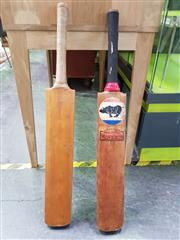 Sale 8563T - Lot 2577 - Buster Grand Monarch English Willow Cricket Bat with Another (2)