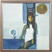 Sale 8716 - Lot 2040 - Artist Unknown - The White Dress 74.5 x 74.5cm