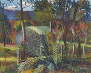 Sale 8764 - Lot 533 - George Duncan (1904 - 1974) - Bush Cabin 39.5 x 49.5cm
