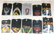 Sale 8926M - Lot 21 - Band T-Shirts incl. ZZ Top, Uriah Heep, Def Leppard & Whitesnake (10)