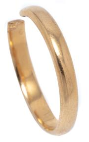 Sale 8991 - Lot 309 - A VINTAGE 18CT GOLD RING SHANK; cut band, width 3mm, wt. 2.64g.