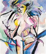 Sale 9084A - Lot 5009 - Gregory Barlow - Female Nude 163 x 138 cm (frame: 169 x 143 x 4 cm)