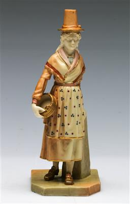 Sale 9164 - Lot 494 - Royal Worcester Figure of a Lady (H:17cm) (RaNo275729)