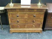 Sale 7972A - Lot 1007 - A Continental Walnut Chest of Drawers
