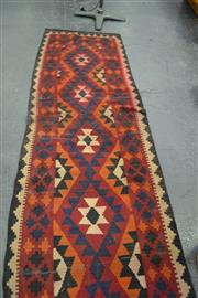 Sale 8159 - Lot 1079 - Persian Kilim Runner In Red Blue And White (400 x 85)