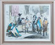 Sale 8308A - Lot 107 - An C18th hand coloured engraving, Wife & No Wife or a Trip to the Continent, by Carlo Khan, published by William Holland Oxford St...