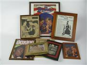 Sale 8450S - Lot 779 - Assortment of Boxing Cuttings, framed (8)