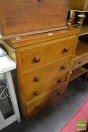 Sale 8499 - Lot 1616 - Timber Chest of Four Drawers