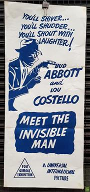Sale 8566 - Lot 1085 - Movie Poster Abbott & Costello Meet the Invisible Man