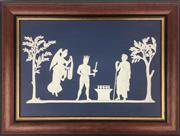Sale 8995H - Lot 72 - A limited edition (of 1000) framed Wedgwood plaque for the Sydney 2000 Olympics, frame size 27cm x 36cm