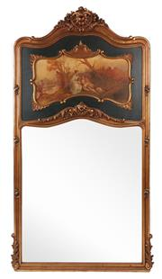 Sale 9087H - Lot 53 - A good French style pier mirror. 1.05m width, 2.05m height