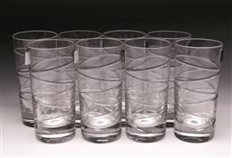 Sale 9098 - Lot 455 - Two boxed sets of Royal Doulton crystal Harmony Highball tumblers (8)