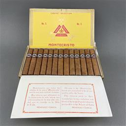 Sale 9142W - Lot 1014 - Montecristo No.5 Cuban Cigars - box of 25 cigars, dated Aug 2017