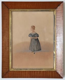 Sale 9135H - Lot 64 - Henry Gilbert Jones, early 19th Century, child study, watercolour and pencil, Signed in pencil, middle, RHS framed size 40 x 32cm,