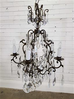 Sale 9174 - Lot 1300 - French style bronze chandelier with five arms (h100cm)