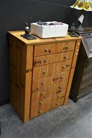 Sale 7981A - Lot 1012 - Timber Chest of 9 Drawers