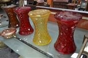 Sale 8054 - Lot 1028 - Set of 4 Kartell Stools in Various Colours